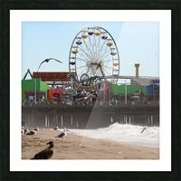 Sea Gulls & Santa Monica Pier Picture Frame print