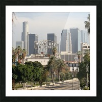 Westlake Theater to Los Angeles - Square Picture Frame print