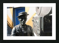 Buster Keaton Statue Picture Frame print