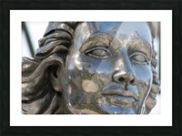 Face of Dolores Del Rio Silver Statue Picture Frame print