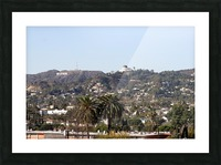 Hollywood Hills from Silver Lake Picture Frame print