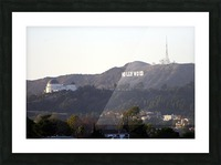Hollywood Hills with Griffith Park Observatory Picture Frame print