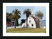 House at San Francisco Presidio Park Picture Frame print