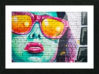 graffiti wall Picture Frame print