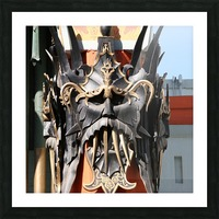 Mask at Grauman's Chinese Theater Picture Frame print