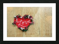 I Love Heart Picture Frame print