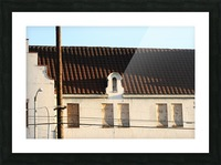 Old Building with Shadow Picture Frame print