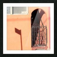 Arched Stairway with Gate Picture Frame print