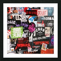 Rock & Roll Stickers Picture Frame print