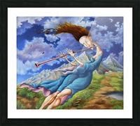 Windy Flutist Picture Frame print