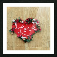 I love Heart - Square Canvas Print Picture Frame print