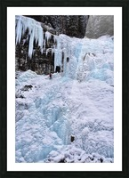 Ice Climbing Waterfall Picture Frame print