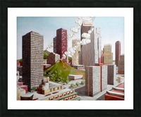 Volcano in Los Angeles Picture Frame print