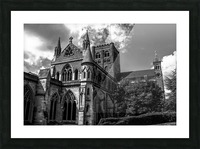 Cathedral   - Black and White image Picture Frame print
