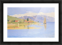 The port of Pully by Felix Vallotton Picture Frame print