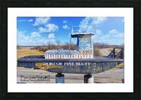 Pine Bluff, AR | Port Sign Picture Frame print