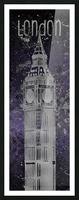 Graphic Art LONDON Big Ben| ultraviolet & silver Picture Frame print