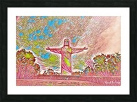 Christ of the ozarks Picture Frame print