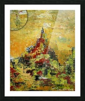 Mount Temple Picture Frame print