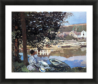 The river has burst its banks by Monet Picture Frame print