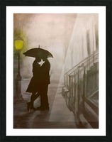 Love in the Rain Picture Frame print