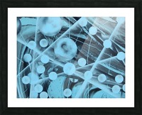 ATOMIC BLUE Picture Frame print