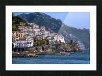 Artistic Amalfi Coast Landscape Picture Frame print