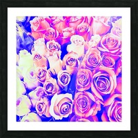 bouquet of roses texture pattern abstract in pink and purple Picture Frame print