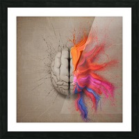 The Creative Brain Picture Frame print