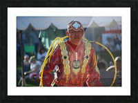 Native American Hoop dance championships 2008 Picture Frame print