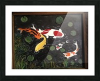 Koi Fish Painting Picture Frame print