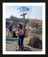 Charles Bridge Prague Street Musician Picture Frame print