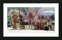 Native Americans in Fancy Headdress Picture Frame print