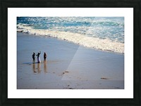 3 girls on California beach Picture Frame print