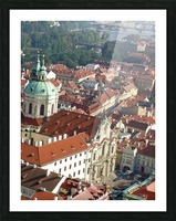 Looking Down on Prague Picture Frame print