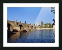 View of The Charles Bridge Prague Picture Frame print