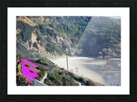 Secluded Cali fornia Beach Picture Frame print