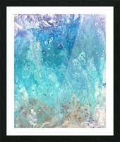 Abstract  Wave Painting Picture Frame print