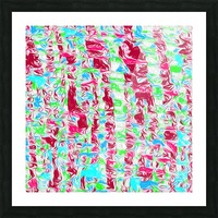 psychedelic painting texture abstract pattern background in pink blue green Picture Frame print