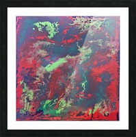 Red and Green Abstract Picture Frame print