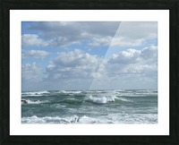 Clouds and Big waves  Newport RI.  Picture Frame print