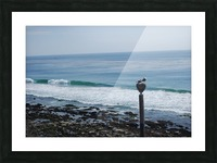 Dana Point Deserted Beach Scene Picture Frame print