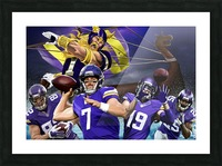 VIKINGS Football Picture Frame print