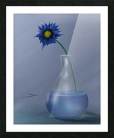 blue Picture Frame print