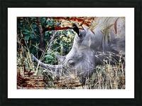 Kifaru Picture Frame print