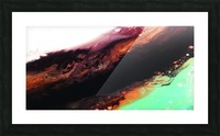 Agate Minimalist Abstract Canvas Painting Metal Artwork Picture Frame print
