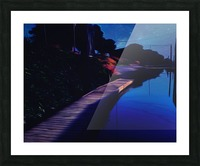Night Dock Picture Frame print