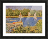 The Seine at Argenteuil Basin by Monet Picture Frame print