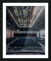 Decaying Blue Auditorium Picture Frame print
