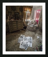 Abandoned Alice In Wonderland Room Picture Frame print